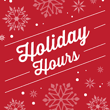 Christmas Holiday Hours